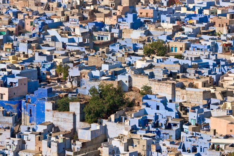 niebieskie miasto fotografia stock