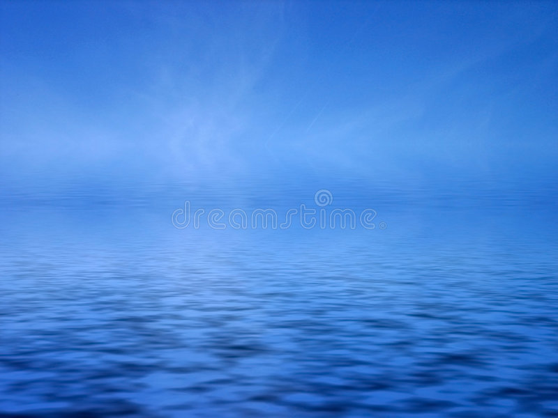 niebieskie morze ilustracja wektor