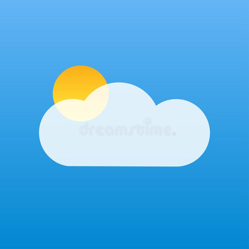 niebieskie niebo bielu chmury słońca żółta pogoda royalty ilustracja