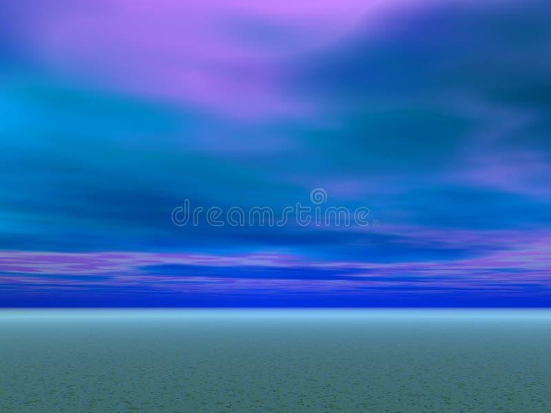 niebieskie niebo pustyni