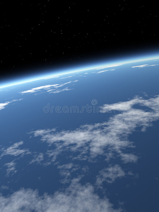 niebieskie niebo tła ziemi fotografia royalty free