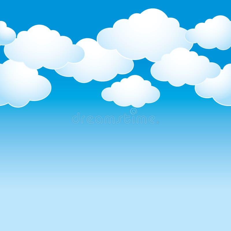 Niebieskie niebo z lekkimi chmurami ilustracji