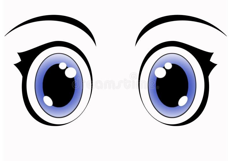 niebieskie oczy anime royalty ilustracja