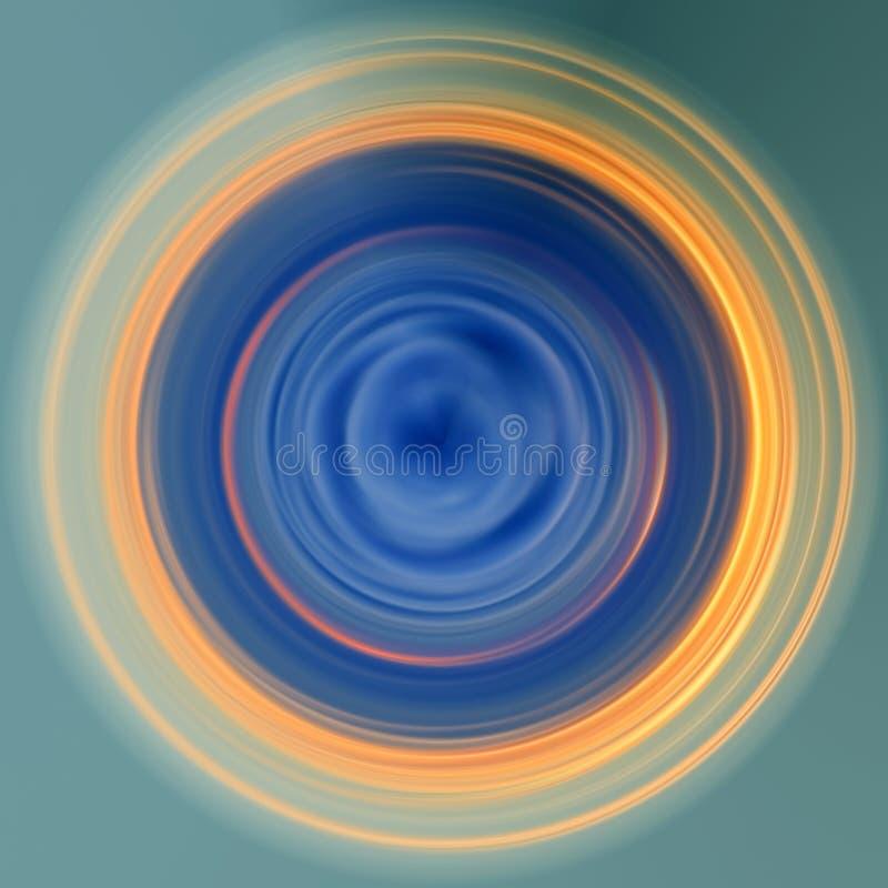 niebieskie oczy, piaskowe abstrakcyjne orb ilustracji