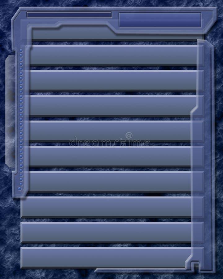 niebieskie okiennice tła ilustracja wektor