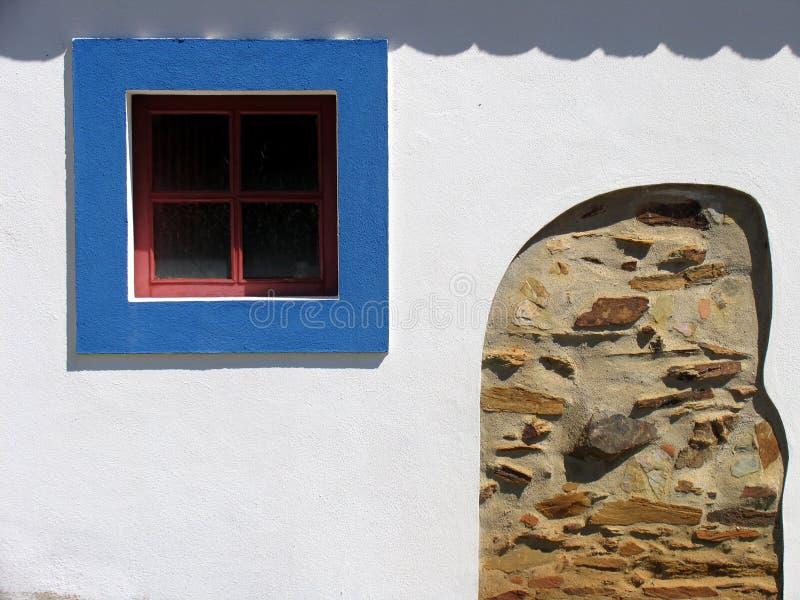 niebieskie okno obraz royalty free