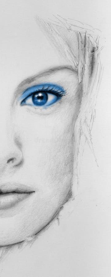 niebieskie oko ilustracja wektor
