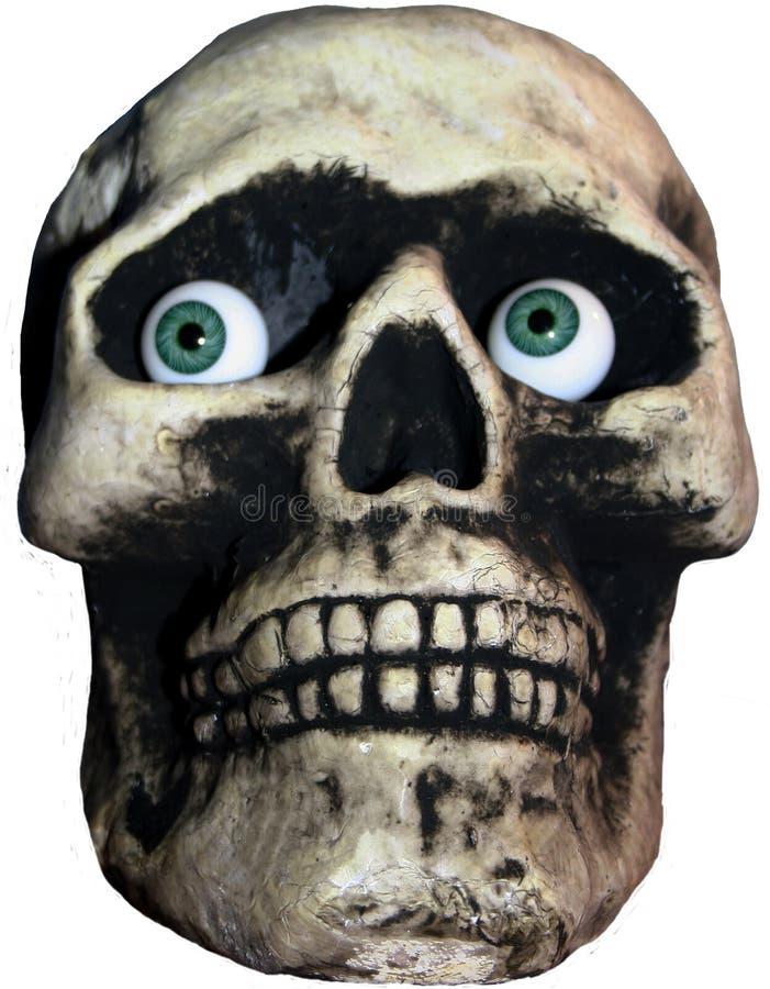 niebieskie oko czaszka zdjęcie stock