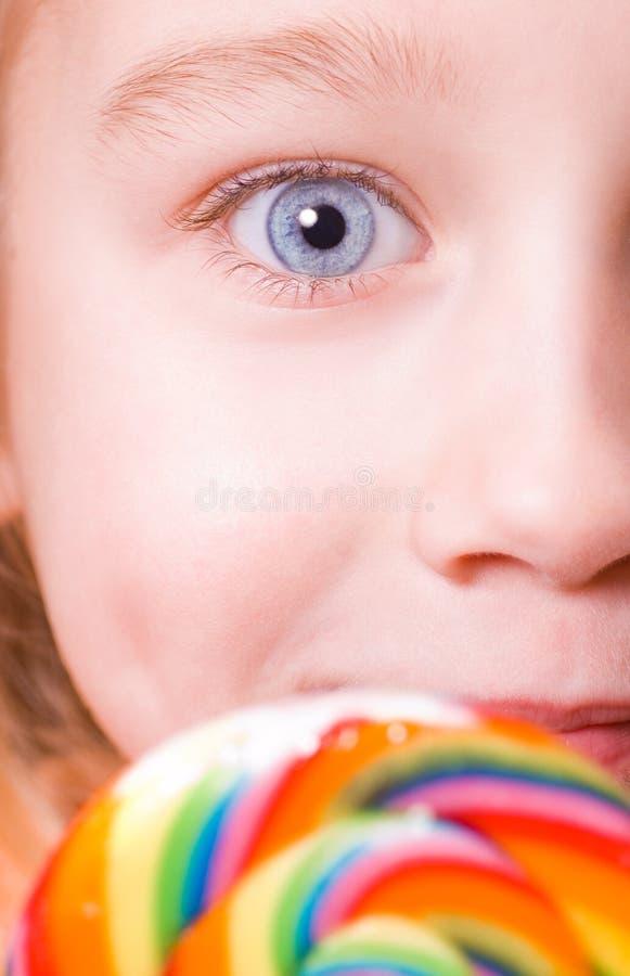 niebieskie oko dziewczyna jest idealna mała zdjęcie stock