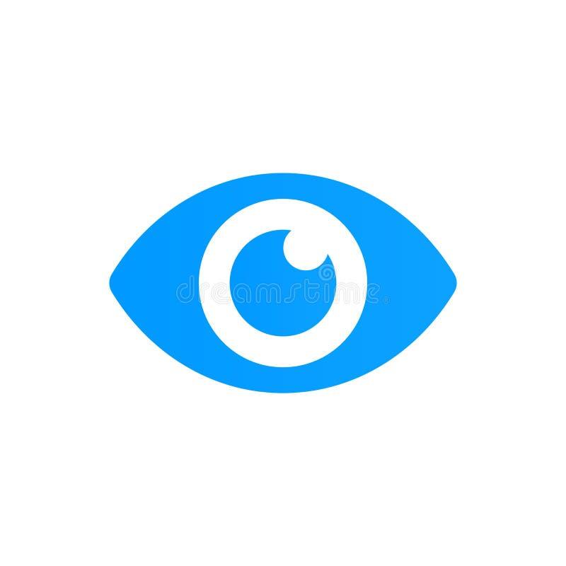 Niebieskie oko ikony wektor Patrzeje i wzrok ikona ilustracja wektor