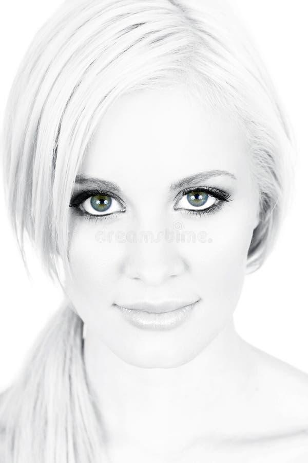 niebieskie oko kobieta zdjęcie stock