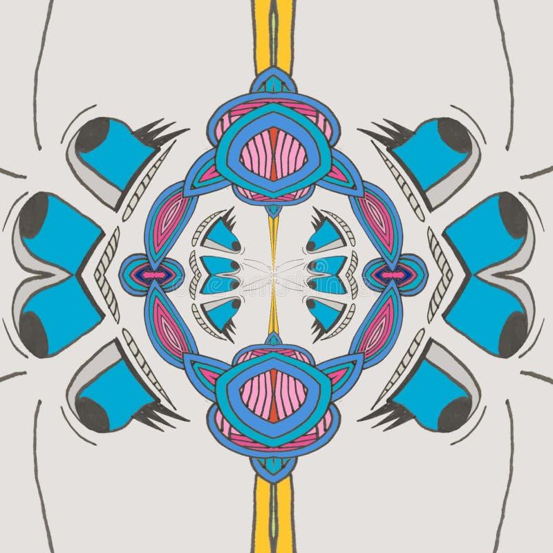 Niebieskie oko szczęśliwa kreskówka ilustracji