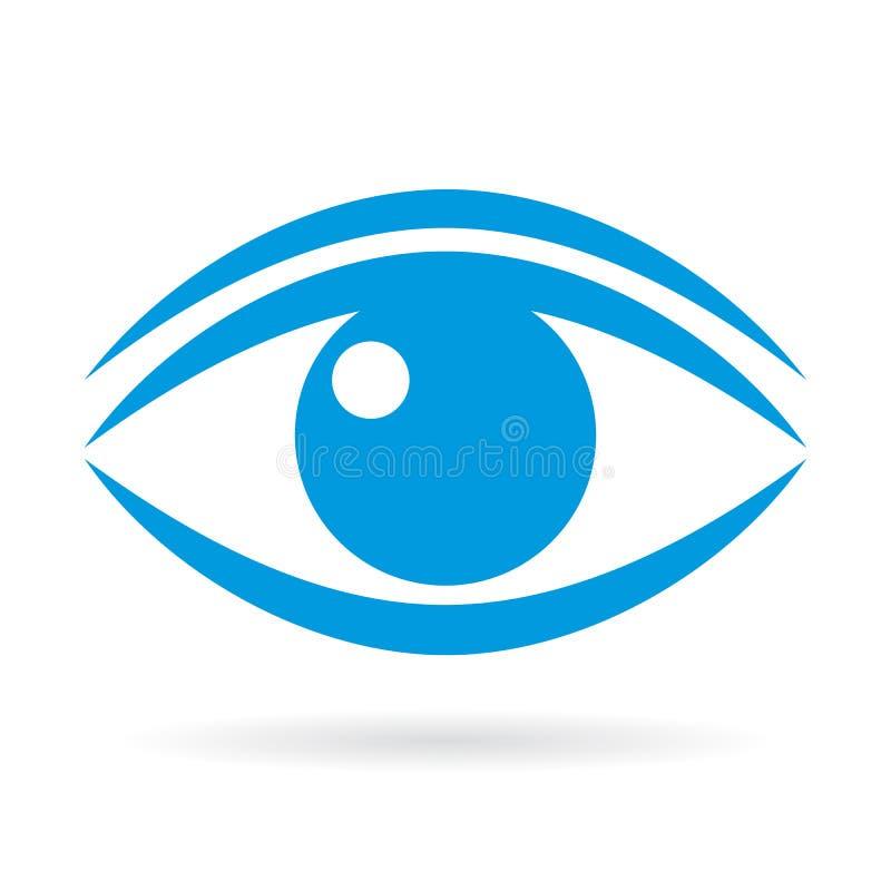 Niebieskie oko wektoru ikona royalty ilustracja