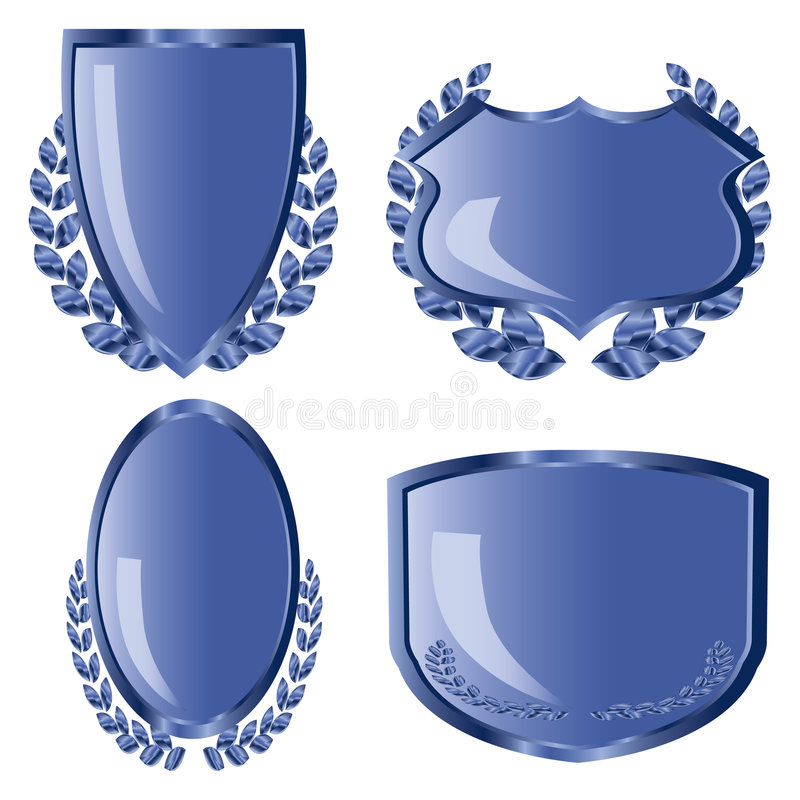 niebieskie osłony royalty ilustracja