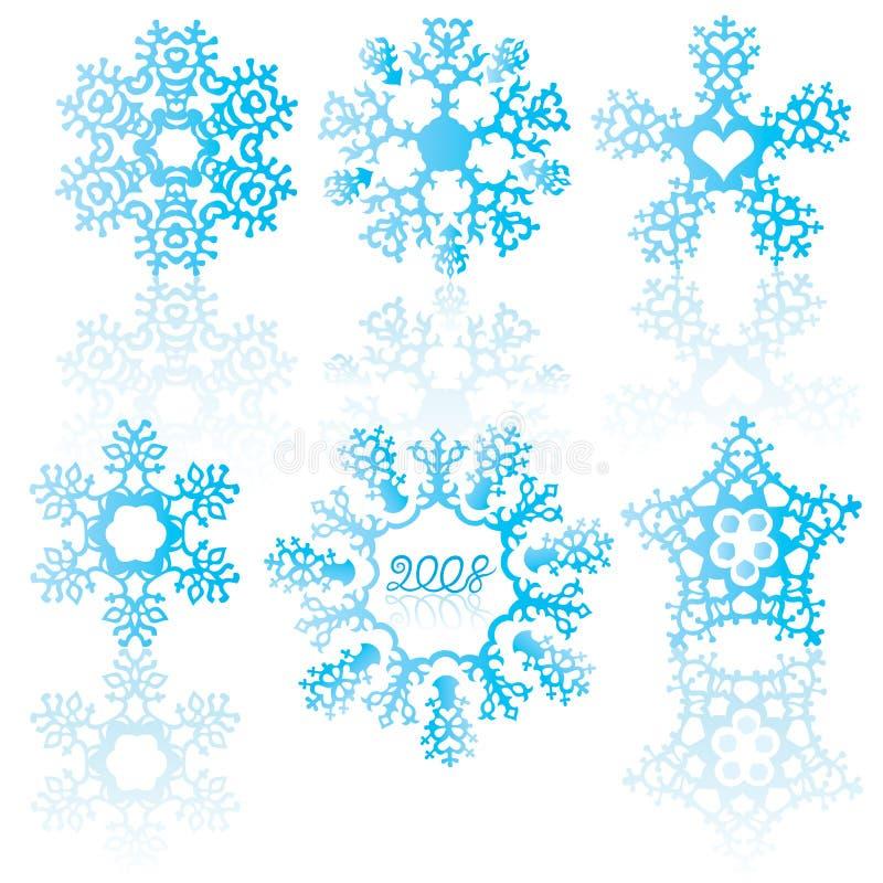 niebieskie płatki śniegu royalty ilustracja