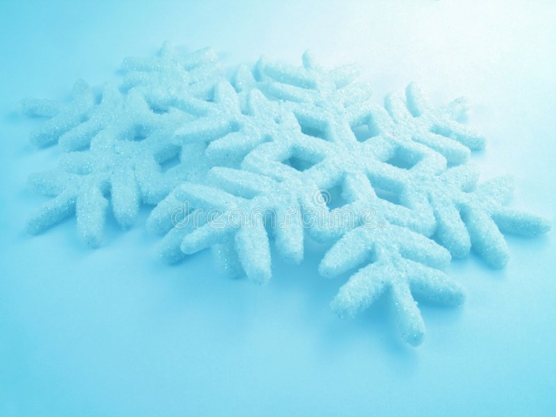 niebieskie płatki śniegu fotografia royalty free