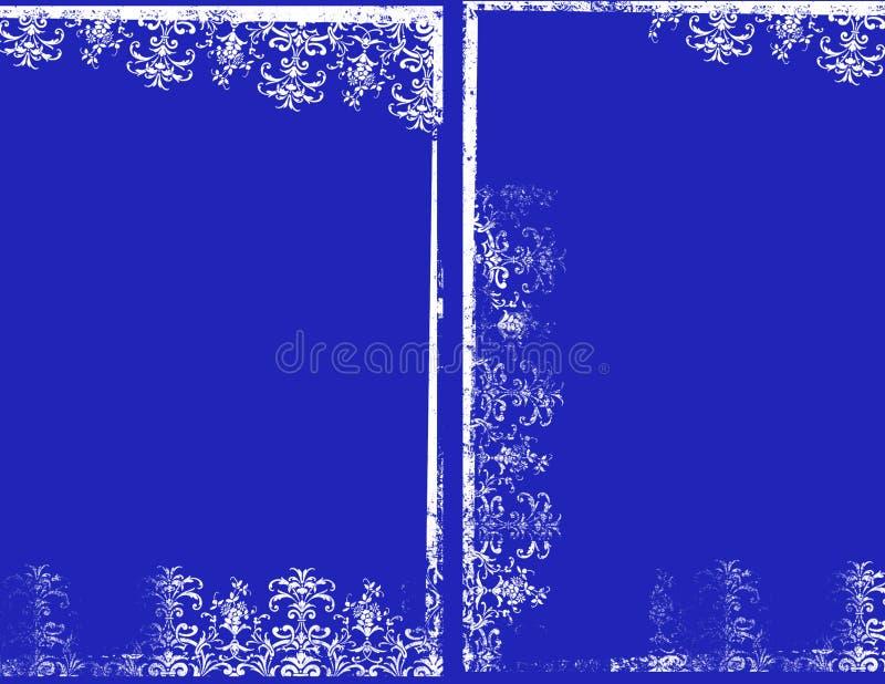 niebieskie ramy royalty ilustracja
