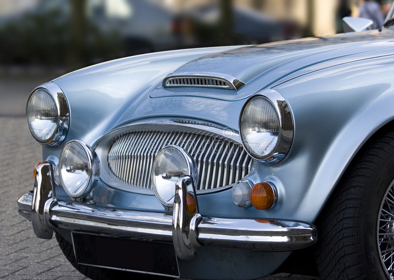 niebieskie samochody sportowe obrazy royalty free