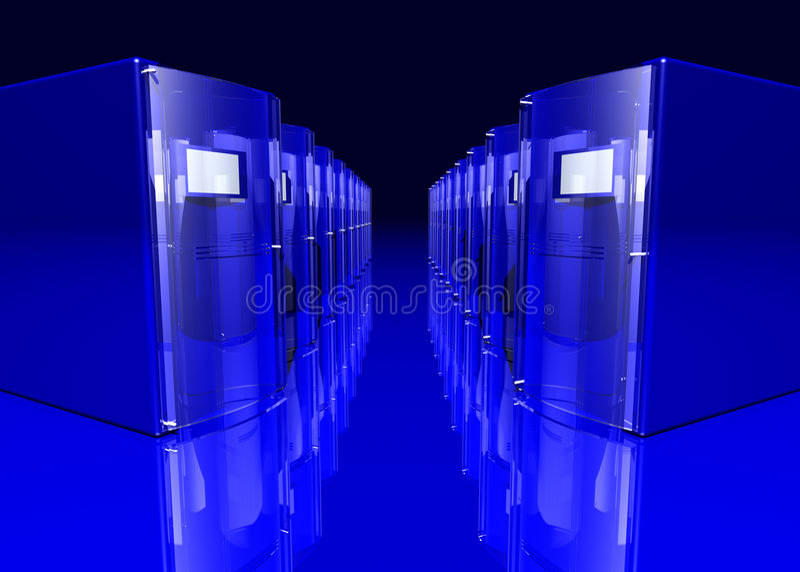 niebieskie serwery