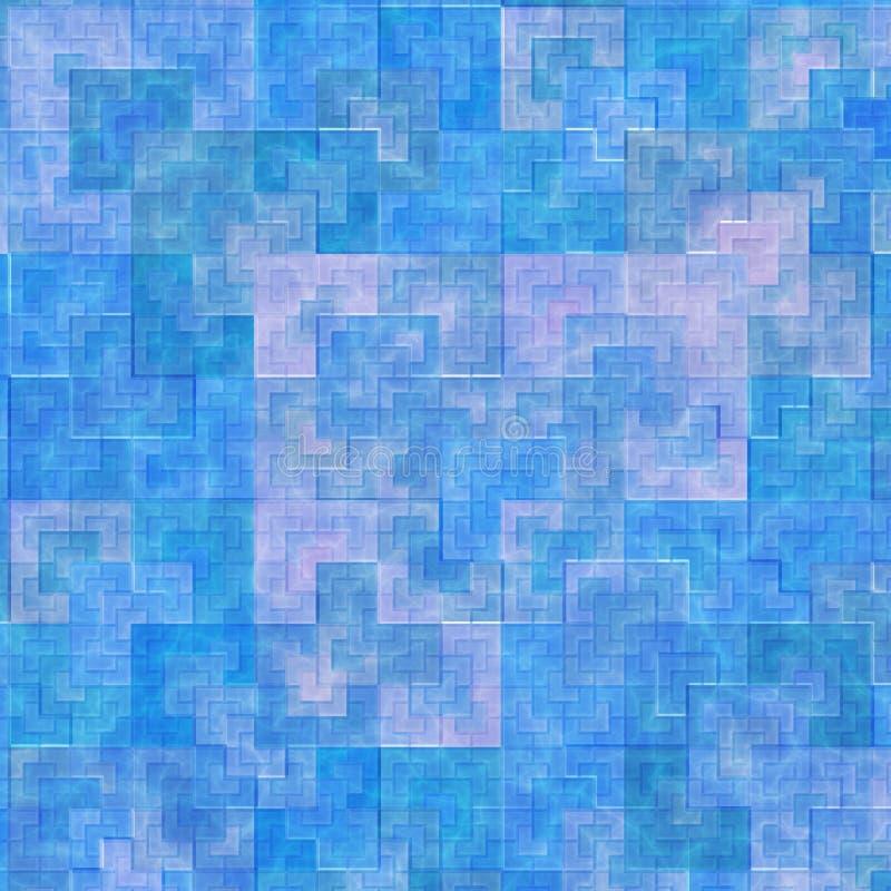 niebieskie sieci kafli. royalty ilustracja