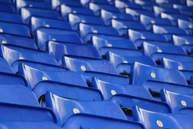 niebieskie siedzenia zdjęcia royalty free