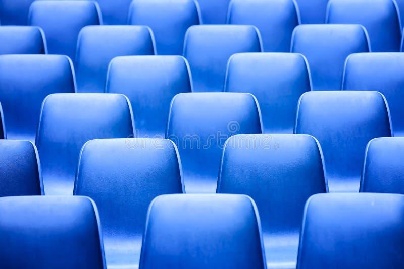 niebieskie siedzenia zdjęcia stock