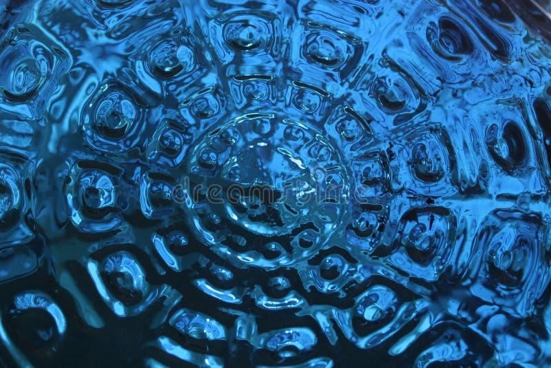 niebieskie szkło odbicia fotografia stock