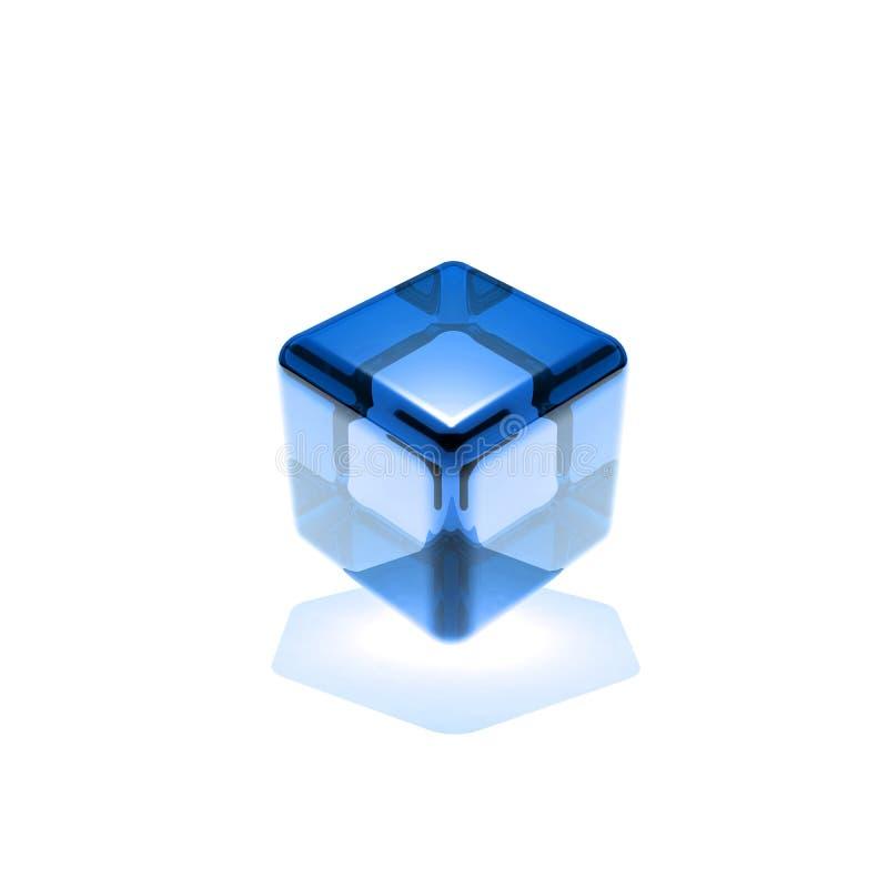 niebieskie szkło sześcianu ilustracja wektor