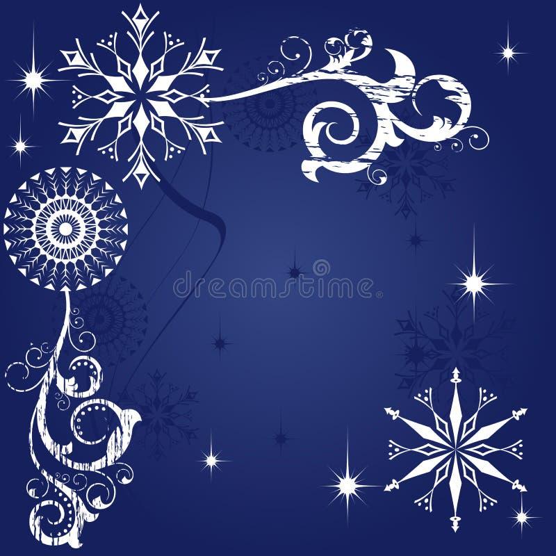 niebieskie tło Świąt ciemnych royalty ilustracja