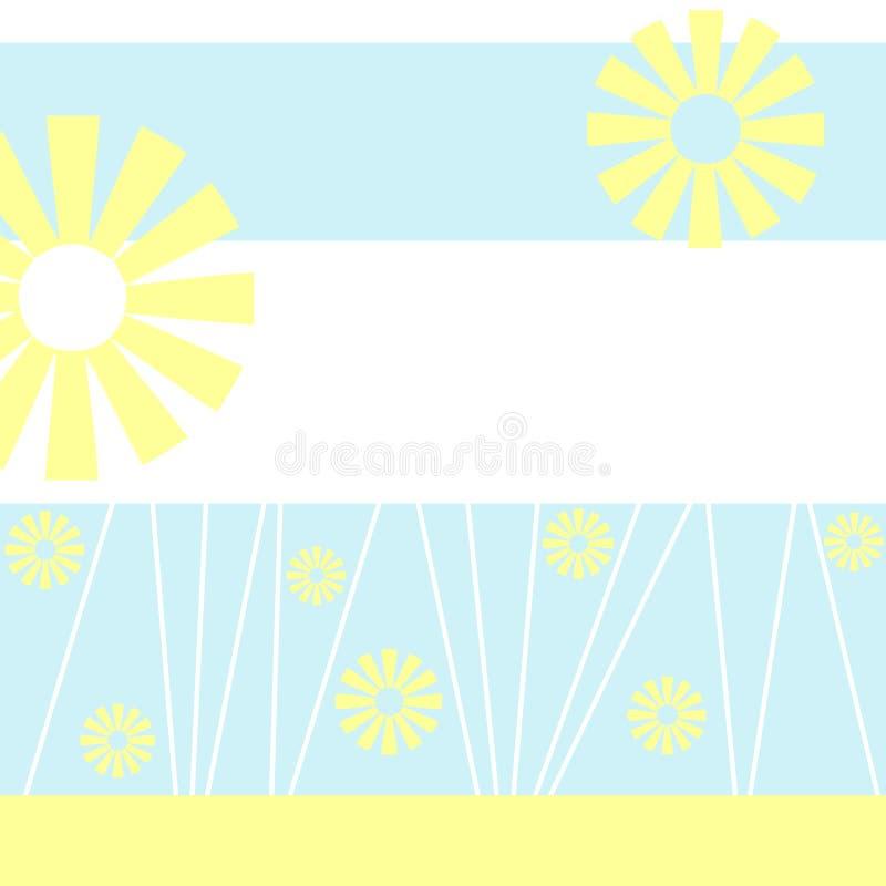 niebieskie tło miękki graficzny żółty royalty ilustracja