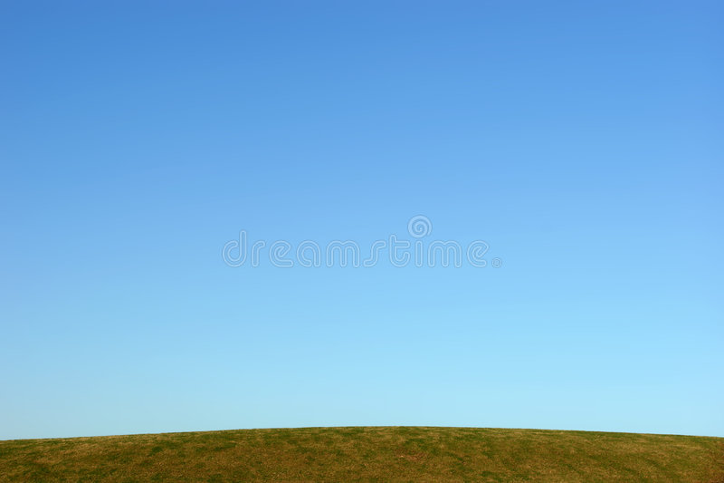 niebieskiego horyzontu wyraźnego zdjęcie stock