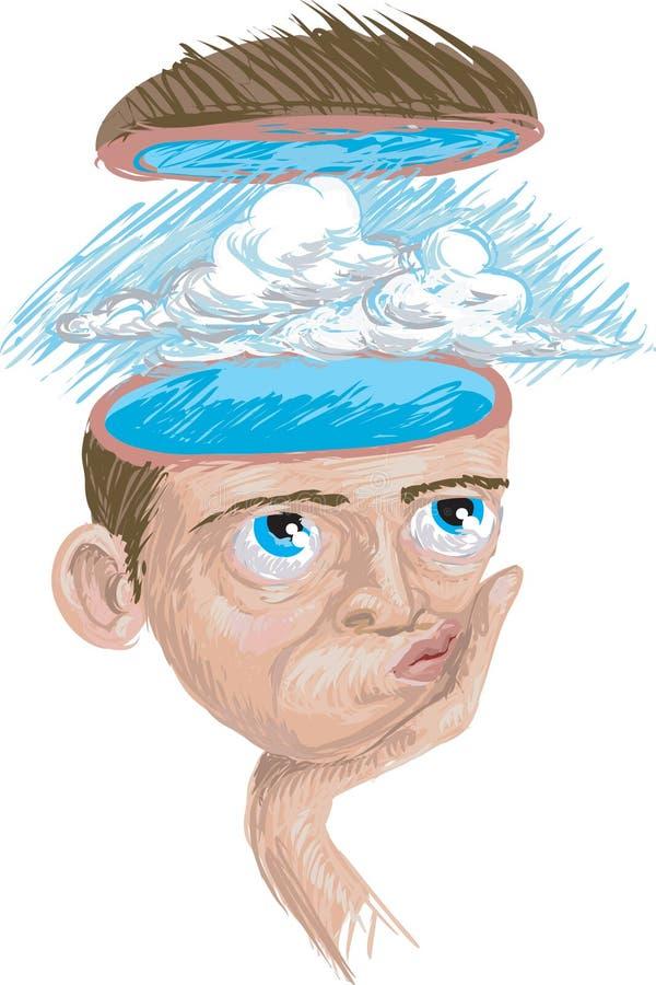 Download Niebieskiego nieba, ilustracja wektor. Obraz złożonej z mózg - 2675195