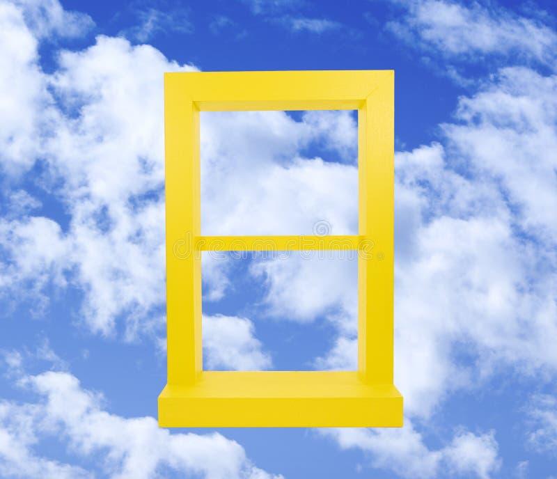 niebieskiego nieba okno kolor żółty obraz royalty free