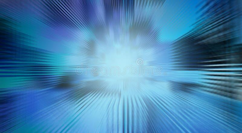 Niebieskiej linii tło dla technologii pojęcia, abstrakcjonistyczny backgroun ilustracja wektor