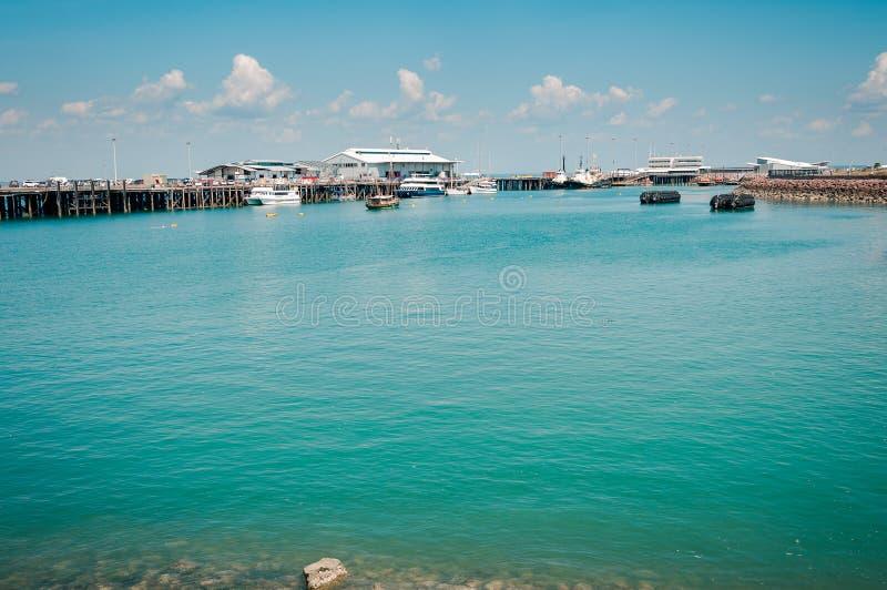 Niebieskozielony nawadnia Darwin nabrzeże, Australia zdjęcie royalty free