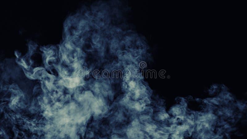 Niebla abstracta de la niebla del humo en un fondo negro Textura Elemento del diseño imagen de archivo libre de regalías
