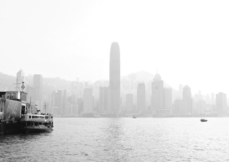 Niebla con humo pesada de Hong-Kong imagen de archivo libre de regalías