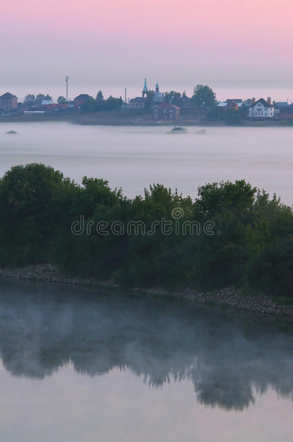 Niebla de la mañana imagen de archivo libre de regalías