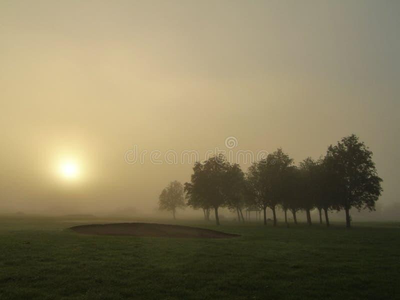 Niebla en el amanecer fotos de archivo libres de regalías