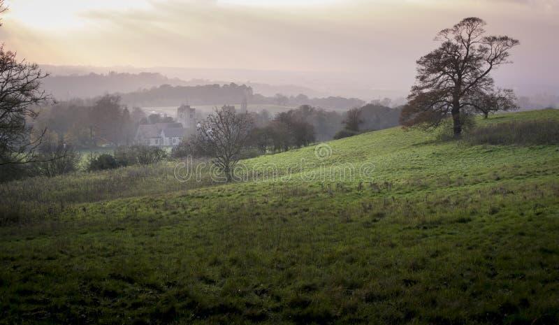 Niebla en el valle imagen de archivo libre de regalías
