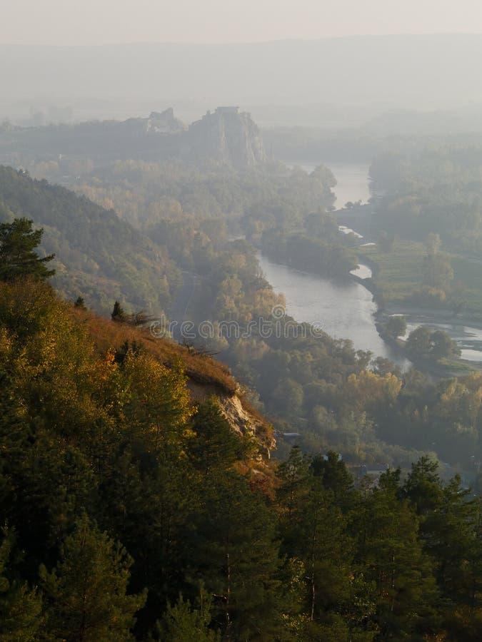 Niebla a lo largo del país foto de archivo libre de regalías