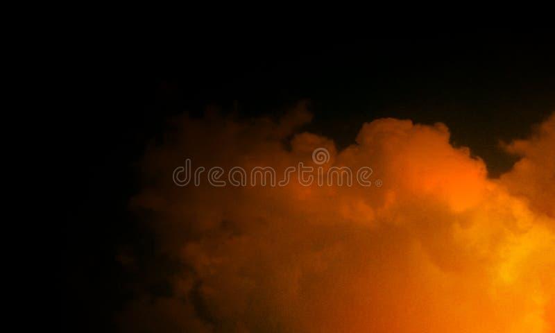 Niebla marrón abstracta de la niebla del humo en un fondo negro stock de ilustración