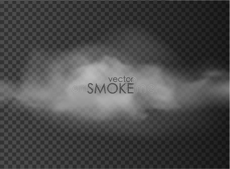 Niebla y humo aislados en transparente stock de ilustración