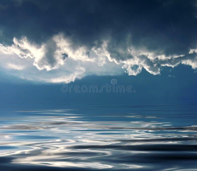 niebo świąteczny morza obraz stock