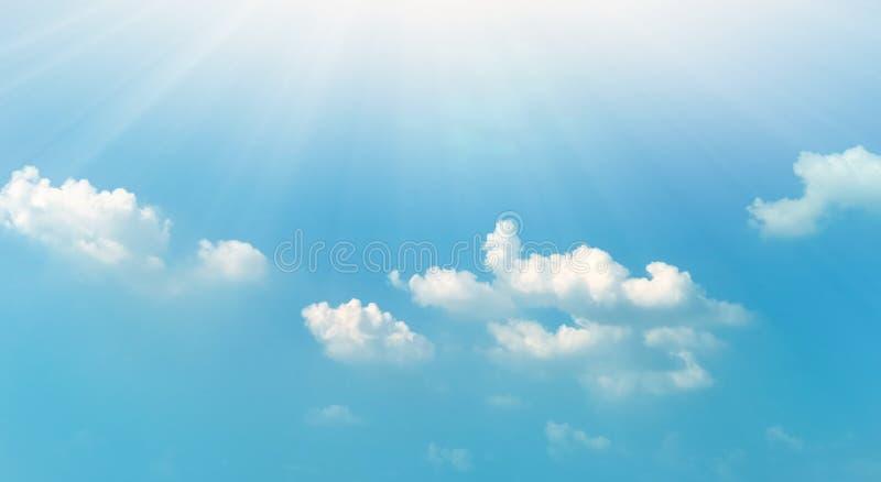 niebo, chmury niebieski sunny t?o ilustracji
