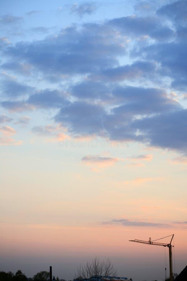 niebo, chmury słońca obraz royalty free