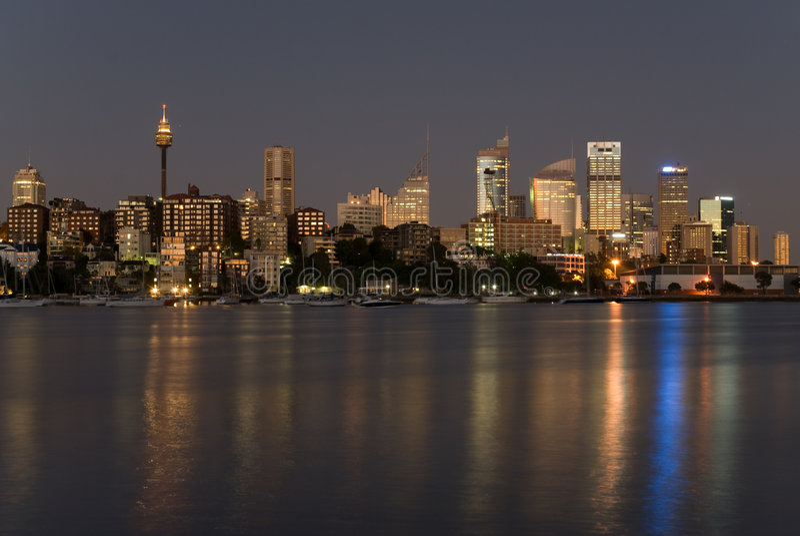 niebo cykliny Sydney zdjęcia royalty free