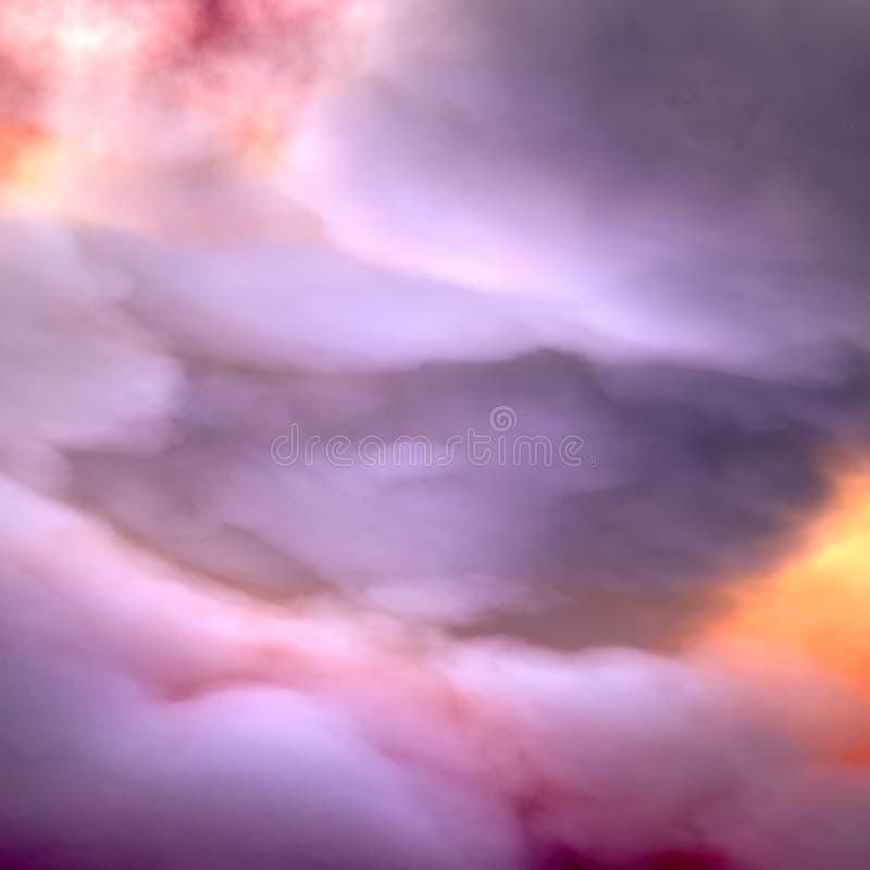Niebo dramatyczne chmury ilustracja wektor