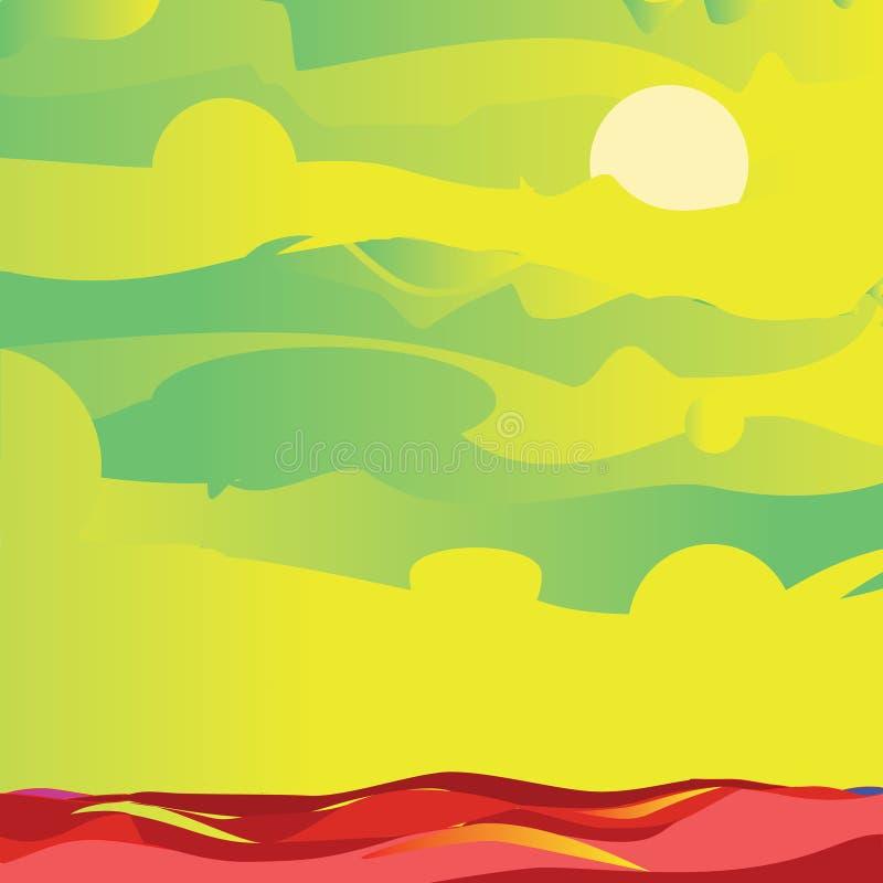 Download Niebo i denna zieleń ilustracja wektor. Obraz złożonej z księżyc - 27901906