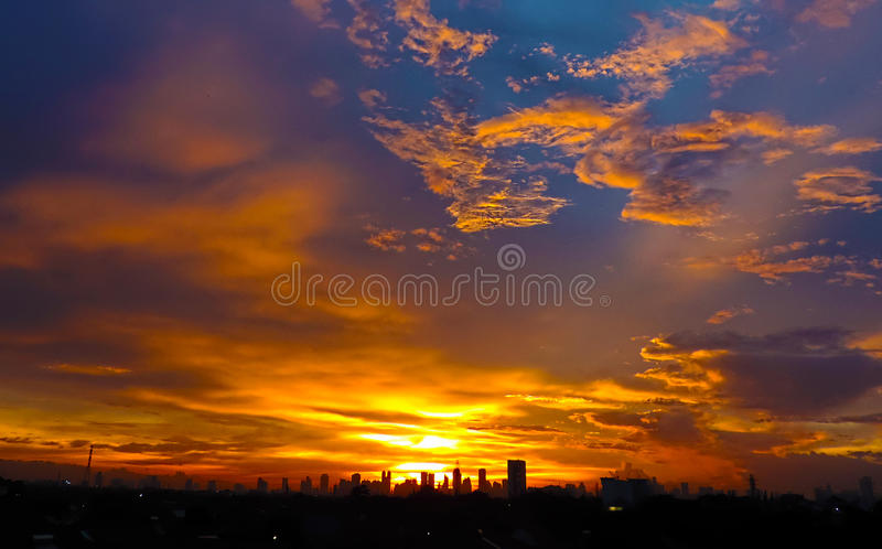 Niebo Jakarta obrazy royalty free